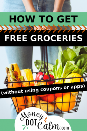 How to Get Free Groceries (Without Coupons or Apps) - Get Your FREE Guide! Money Dot Calm