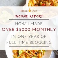 Food Blog Income Report 2018: How I made over $5000 monthly in one year of full-time blogging?