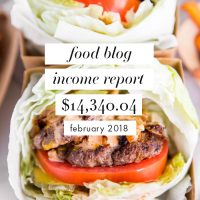 Food Blog Income Report and Traffic: February 2018 + Putting Yourself Out There