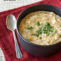 Slow Cooker Creamy Chicken Chili (Gluten and Bean Free)
