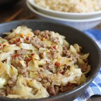 Ginger Beef & Cabbage
