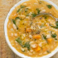 THE BEST WHITE BEAN SOUP