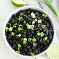 Slow Cooker Black Beans with Scallions