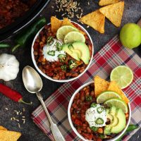 The Best Slow Cooker Vegan Chili • Happy Kitchen