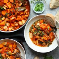 Butter Bean Stew with Kale and Sweet Potatoes