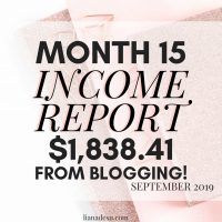 Income Report – September 2019
